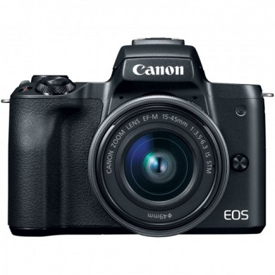 Mirrorless Camera CANON EOS M50 + 15-45mm IS STM Black (2680C060)