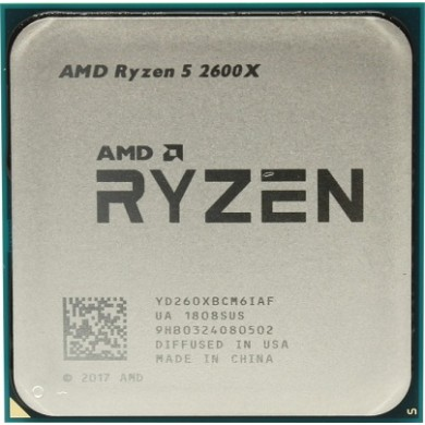 AMD Ryzen 5 2600X, Socket AM4, 3.6-4.2GHz (6C/12T), 16MB L3, No Integrated GPU, 12nm 95W, Box (with Wraith Spire Cooler)