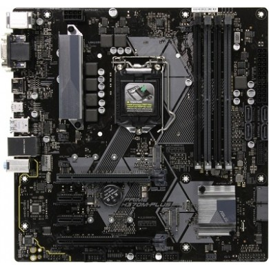 ASUS PRIME H370M-PLUS, Socket 1151, Intel® H370 (9th/8th Gen CPU), Dual 4xDDR4-2666, 2xPCIe X16, CPU Intel graphics, VGA, HDMI, DVI, 6xSATA3, RAID, 2xM.2 slot, 2xPCIe X1, ALC887 HDA, GbE LAN, 2xUSB3.1 Gen 2, 5xUSB3.1 (1xType-C & 4xType-A), mATX