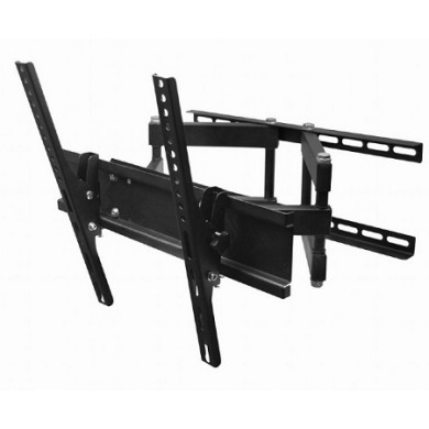 "TV-Wall Mount for 26-55""- Gembird ""WM-55RT-03"", Rotate & Tilt, max. 50 kg, Rotation 90°, Tilting angle 15°, Distance TV to Wall: 125-470 mm, max. VESA 400 x 400, Black"