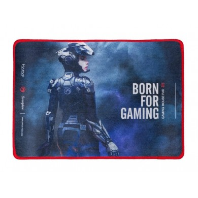 "MARVO ""G15"", Gaming Mouse Pad, Dimensions: 350 x 255 x 4 mm, Material: rubber base + microfiber, Stitched edges, Black"