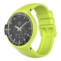 """Ticwatch  S by Mobvoi, Auora Yellow, 1.4"""" OLED Touch Display, Wear OS by Google, 512MB/4GB, GPS, Time, Mic/Speaker for incoming calls, Heart Rate, Steps, Alarm, Distance Display, Average Daily Steps, Weather, Notifications, IP67, 48Hrs+, BT4.1, 45.5g"""
