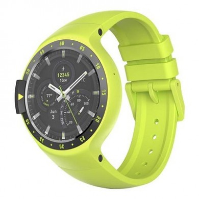 "Ticwatch  S by Mobvoi, Auora Yellow, 1.4"" OLED Touch Display, Wear OS by Google, 512MB/4GB, GPS, Time, Mic/Speaker for incoming calls, Heart Rate, Steps, Alarm, Distance Display, Average Daily Steps, Weather, Notifications, IP67, 48Hrs+, BT4.1, 45.5g"