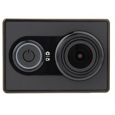 Xiaomi Yi Action Camera, Black, Video Resolutions: 1080p@60fps, 155°, Ambrella A7LS, Sensor:16MPx Sony (Exmor R BSI CMOS), Microphone, WiFi, Bluetooth, Battery 1010mAh, up to 100 minutes, 70g (includes Selfie Stick, BT Remote Control)
