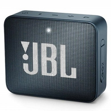 JBL Go 2 Navy / Bluetooth Portable Speaker, 3W (1x3W) RMS, BT Type 4.1, Frequency response: 180Hz – 20kHz, IPX7 Waterproof, Speakerphone, 730mAh rechargeable Lithium-ion battery,  3.5 mm jack audio input, Battery life (up to) 5 hr