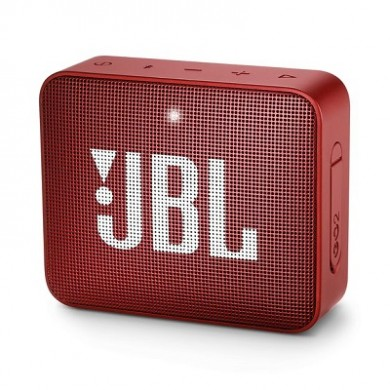 JBL Go 2 Red / Bluetooth Portable Speaker, 3W (1x3W) RMS, BT Type 4.1, Frequency response: 180Hz – 20kHz, IPX7 Waterproof, Speakerphone, 730mAh rechargeable Lithium-ion battery,  3.5 mm jack audio input, Battery life (up to) 5 hr