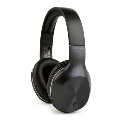 "Gembird BHP-MIA  ""Miami"" - Black, Bluetooth Stereo Headphones with built-in Microphone, Bluetooth v.4.2, up to 500 hours of standby & 6 hours of listening time, distance: up to 10 m, Rechargeable 250mAh Li-ion battery, multifunction button,3.5mm jack"