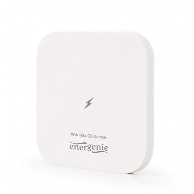 Wireless Qi Charger - Gembird EG-WCQI-02, 5W, square, output: 5V DC up to 1 A, Input: 5 V DC up to 2 A, compatible with all Qi wireless charging smartphones, White