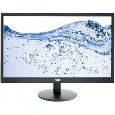 "24.0"" AOC LED E2460SH Black (1ms, 20M:1, 250cd, 1920x1080, 170°/160°, VGA, HDMI, DVI, Audio Line-out, Speakers 2 x 2W)"