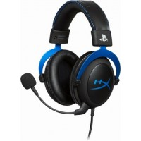 Headset  HyperX Cloud PS4, Black/Blue, Official PS4 licensed headset, Solid aluminium build, Microphone: detachable, Frequency response: 15Hz–25,000 Hz, Cable length:1m+2m extension, 3.5 jack, Pure Hi-Fi capable, Braided cable