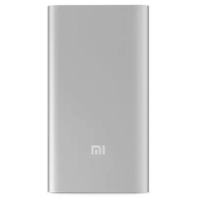 5000mAh Power Bank - Xiaomi Mi Power Bank 2 5K, Silver, Metal case, 9 protective layers, Input (MicroUSB): 5.0V=2.0A, Output (USB-A): 5.1V=2.4A
