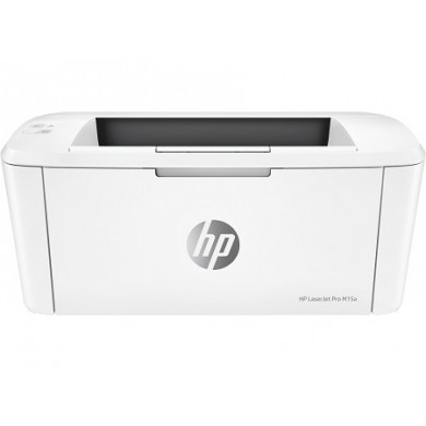 Printer HP LaserJet PRO M15a, White,  A4, 600 dpi, up to 18 ppm, 8MB, Up to 8000 pages/month, USB 2.0, PCLmS, URF, PWG, CF244A Cartridge (~1000 pages) Starter ~500pages