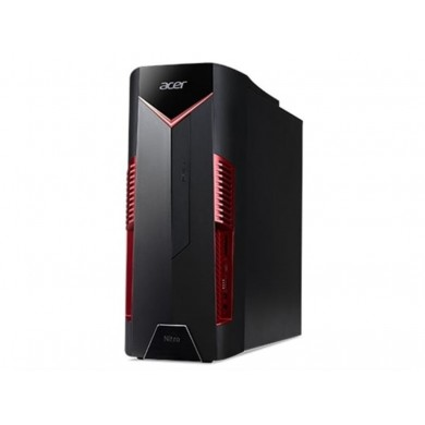 Acer Nitro 50-600 MT (DG.E0MME.014) Intel® Core® i3-8100 3.60 GHz, 8GB DDR4 RAM, 1TB HDD, DVDRW, Cardreader, NVIDIA GTX1050Ti 4GB Graphics, 500W PSU, Endless OS, no KB/MS, Black/Red