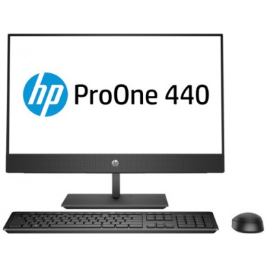 "All-in-One PC - 23.8"" HP ProOne 440 G4 FullHD IPS +W10 Pro, Intel® Core® i3-8100T 3,1 GHz, 8GB DDR4 RAM, 1TB HDD, DVD-RW, CR, Intel® UHD 630, FullHD webcam, Height Adjustable Stand, Wi-Fi/BT5, DP, USB-C, GigaLAN, 120W PSU, Win10Pro, USB KB/MS, Black"