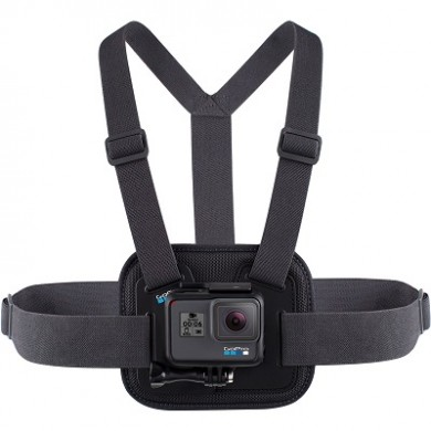 GoPro Chesty (Performance Chest Mount) - The padded, flexible Chesty makes it easy to capture immersive hands-free footage from your chest. Made from breathable, lightweight materials, compatible with all GoPro cameras
