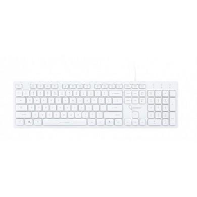 Gembird KB-UML3-01-W-RU Multimedia keyboard, Silent, 3-color backlight, 12 practical multimedia hotkeys, RU layout, USB, White