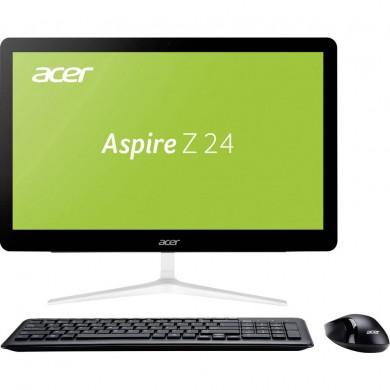"All-in-One PC - 23.8"" Acer Aspire Z24-880 FullHD Multi-Touch +W10H(DQ.B8UME.002) Intel® Pentium® G4560T 2,9 GHz, 4GB DDR4 RAM, 128GB M2. SSD, DVD-RW, CR,Intel® HDGraphics, Wi-Fi, BT, Gigabit LAN,135WPSU,Win10H SLRu,Wireles KB/MS,Black/Silver"