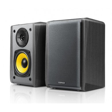 "Edifier R1010BT Black, 2.0/ 24W (2x12W) RMS,  Audio in: 2x RCA, Bluetooth, wooden, (4""+1/2"")"