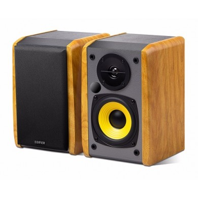 "Edifier R1010BT Brown, 2.0/ 24W (2x12W) RMS,  Audio in: 2x RCA, Bluetooth, wooden, (4""+1/2"")"