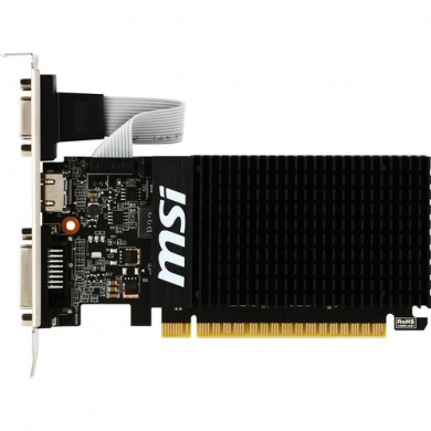 MSI GeForce GT 710 (GT 710 1GD3H LP) /  1GB GDDR3 64Bit 954/1600Mhz, D-Sub, DVI-D, HDMI, Passive Heatsink, Low Profile Design, Retail