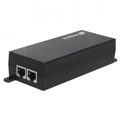 EDIMAX GP-101IT, Gigabit PoE+ Injector, IEEE 802.3af/at compliant, Data and power carried over the same cable up to 100 meters, Supports PoE PSE devices up to 30W, plastic case