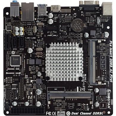 Biostar J3160NH, MB + CPU onboard: Quad-core Celeron J3160 (1.6-2.24GHz), 2xSO-DIMM (DDR3L-1600), Intel HD graphics, VGA, HDMI, 2xSATA3, 1xPCIe X1, COM & LPT Header, Realtek ALC662 HDA,  GbE LAN, 4xUSB3.0, Mini-ITX