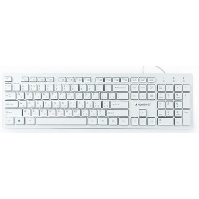 "Gembird KB-MCH-03-W-RU ""Chocolate"" Multimedia, Slimline keyboard with ""chocolate"" type keys, USB, White"