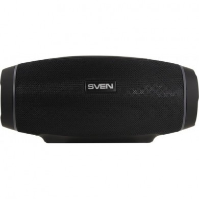 SVEN PS-230 Black, Bluetooth Waterproof Portable Speaker, 12W RMS, Water protection (IPx5), Support for iPad & smartphone, FM tuner, USB & microSD, TWS, built-in lithium battery -1500 mAh, ability to control the tracks, AUX stereo input
