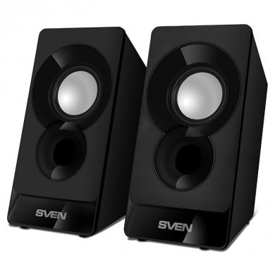 SVEN 300 Black (USB),  2.0 / 2x3W RMS, USB power supply