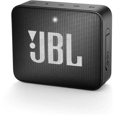 JBL Go 2 Black / Bluetooth Portable Speaker, 3W (1x3W) RMS, BT Type 4.1, Frequency response: 180Hz – 20kHz, IPX7 Waterproof, Speakerphone, 730mAh rechargeable Lithium-ion battery,  3.5 mm jack audio input, Battery life (up to) 5 hr