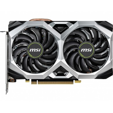 MSI GeForce RTX 2060 VENTUS XS 6G OC /  6GB GDDR6 192Bit 1710/14000Mhz, 1x HDMI, 3x DisplayPort, Dual fan - Customized Design, TORX Fan2.0, Gaming App, Retail
