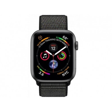 Apple Watch Series 4 44mm Smartwatch (GPS Only, Space Grey, Black Sport Loop)