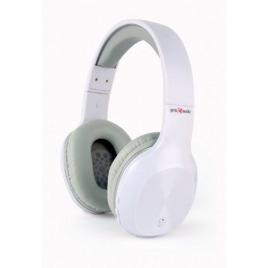 "Gembird BHP-MIA-W ""Miami""- White, Bluetooth Stereo Headphones with Microphone, Bluetooth v.4.2, up to 500 hours of standby & 6 hours of listening time, distance: up to 10 m, Rechargeable 250mAh Li-ion battery, multifunction button,3.5mm jack"