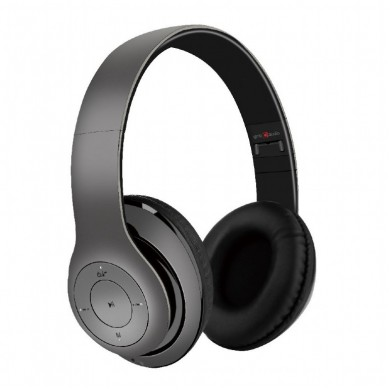 "Gembird BHP-MXP-GR  ""Milano"" - Grey, Bluetooth Stereo Headphones with built-in Microphone, Bluetooth V4.2 +EDR, up to 250 hours of standby & 10 hours of listening time, distance: up to 8m, Rechargeable 300mAh Li-ion battery, multifunction button"