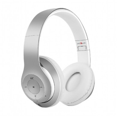"Gembird BHP-MXP-GR  ""Milano"" - Silver-White, Bluetooth Stereo Headphones with built-in Microphone, Bluetooth V4.2 +EDR, up to 250 hours of standby & 10 hours of listening time, distance: up to 8m, Rechargeable 300mAh Li-ion battery"