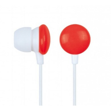 "Gembird MHP-EP-001-R  ""Candy"" - Red, In-ear earphones,1.2 m, 3.5 mm stereo audio plug, box packing"