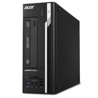 Acer Veriton X2660G SFF +W10 (DT.VQWME.058) Intel® Pentium® G5400 3.7 GHz, 4GB DDR4 RAM, 1TB HDD, no ODD, Intel® UHD 610 Graphics, HDMI, DP, VGA, COM-port, TPM, 180W PSU, Win10 Home Ru, USB KB/MS, Black, 3 Year Warranty