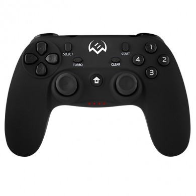 SVEN GC-3050 Wireless Gamepad, X-Input and Direct-Input modes support, 4 axes, D-Pad, 2 mini joysticks and 13 buttons, USB, Black
