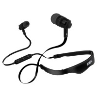 SVEN E-215B, Bluetooth Earphones with microphone, Bluetooth v.4.1, Call acceptance, operation time with battery up to 5 hours, range of action up to 10 m, track and volume control possibility, Black