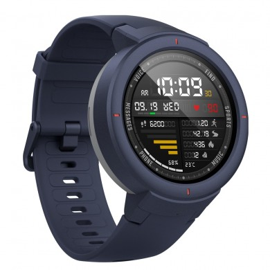 """Xiaomi """"Amazfit Verge"""" Blue, 1.30"""" Amoled Display, GPS, Heart Rate, Steps, Calories, Sleeping Quality Tracking, Smart Alarm, Distance Display, Average Daily Steps, Time, Weather, Accept incoming calls, Notifications, Operating time 5days, IP67"""