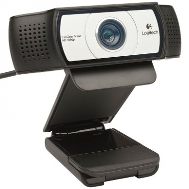 Logitech Business C930e Webcam, 2 omni directional Microphones, Autofocus, Full HD 1080p 30fps/720p 60fps video streaming, H.264 video compression, Zoom to 4X, Tripod, RightLight2&RightSound, USB 3.0 Ready