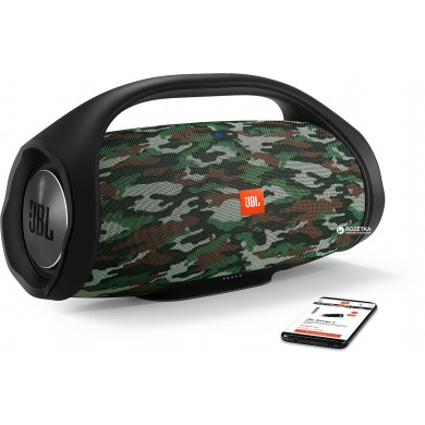 JBL Boombox Squad / Bluetooth Portable Speaker, 60W (2x30W) RMS, BT Type 4.2, Frequency response:  55Hz–20kHz, IPX7 Waterproof, Speakerphone, 20000mAh power bank USB 5V/2A ,  JBL Connect+, Power supply: 19V 3A, Battery life (up to) 24 hr
