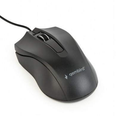 Gembird MUS-3B-01, Optical Mouse, 1000dpi, USB, Black