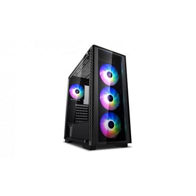 Carcasa DEEPCOOL MATREXX 50 ADD-RGB 4F / w/oPSU / Side panel / 4x120mm ADD-RGB fans / ATX / Black