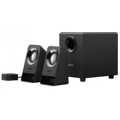Logitech Z213 Speaker System 2.1 (RMS 7W, 4W subwoofer, 2x1.5W), Black