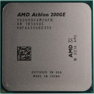 AMD Athlon 200GE, Socket AM4, 3.2GHz (2C/4T), 4MB L3, Integrated Radeon Vega 3 Graphics, 14nm 35W, tray