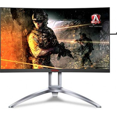 "27.0"" AGON VA LED AG273QCX Curved Bordless Black (1ms, 3000:1, 400cd, 2560x1440, 178°/178°, 144Hz Refresh Rate, VGA, DisplayPortx2, HDMIx2, Speakers 2 x 5W, Audio Line-out, Height Adjustment, USB Hub: 4 x USB3.0, Pivot, VESA)"