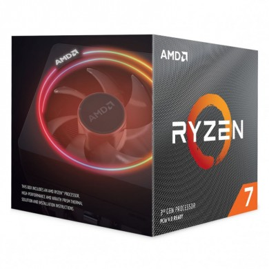 AMD Ryzen 7 3800X, Socket AM4, 3.9-4.5GHz (8C/16T), 32MB Cache L3, No Integrated GPU, 7nm 105W, Box (with Wraith Prism RGB LED Cooler)