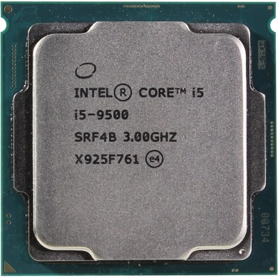 Intel® Core™ i5-9500, S1151, 3.0-4.4GHz (6C/6T), 9MB Cache, Intel® UHD Graphics 630, 14nm 65W, Box