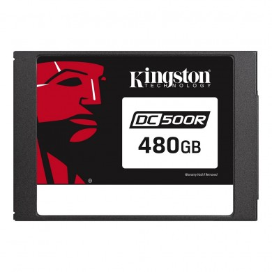 """2.5"""" SSD 480GB  Kingston DC500R Data Center Enterprise, SATAIII, Read-centric, 24/7, SED, PLP, Sequential Reads:555 MB/s, Sequential Writes:500 MB/s, Steady-state 4k: Read: 98,000 IOPS / Write: 12,000 IOPS, 7mm, Phison PS3112-S12DC, 3D NAND TLC"""